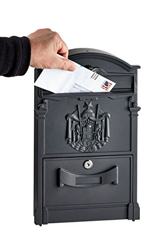 AdirHome Black Steel Old Europe Mailbox by AdirHome (Image #4)