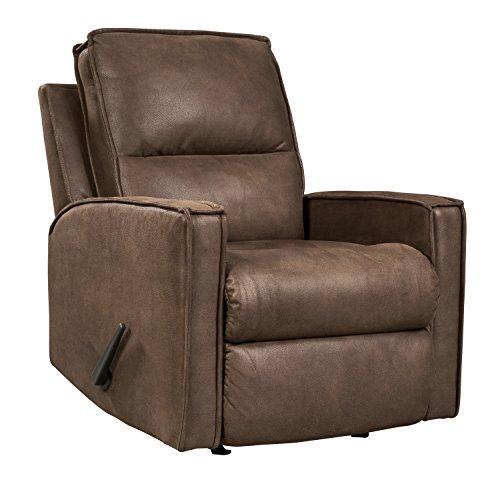 Upholstery Motion Fabric Sofa - Ashley Furniture Signature Design - Terrington Contemporary Rocker Recliner Chair - Manual Reclining - Harness