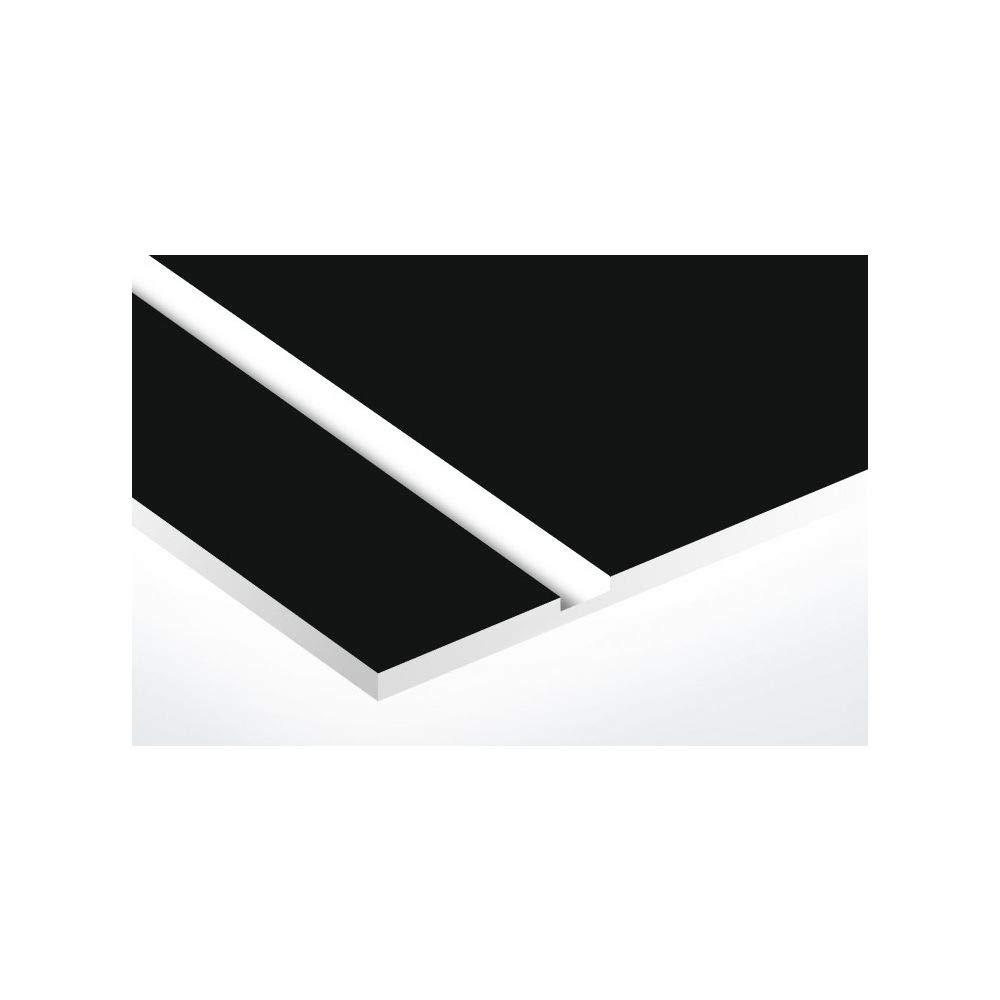 2 lignes rouge lettres blanches Plaque rouge 100x25mm Lettres blanches plaque boite aux lettres Decayeux STOP PUB 2,5 cm