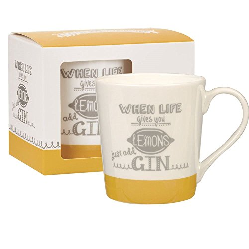 Churchill China Queens Rainbows Chestnut Lemons Mug in Gift Box 300ml 10.14 fl oz (Churchill Made In Staffordshire England Blue Willow)