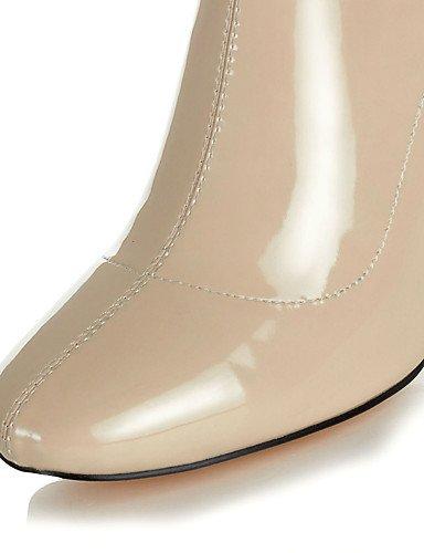 XZZ    Damen-Stiefel-Kleid   Lässig   Party & Festivität-Leder-Blockabsatz-Absätze   Quadratische Zehe   Modische Stiefel-Schwarz   Mandelfarben eb295f