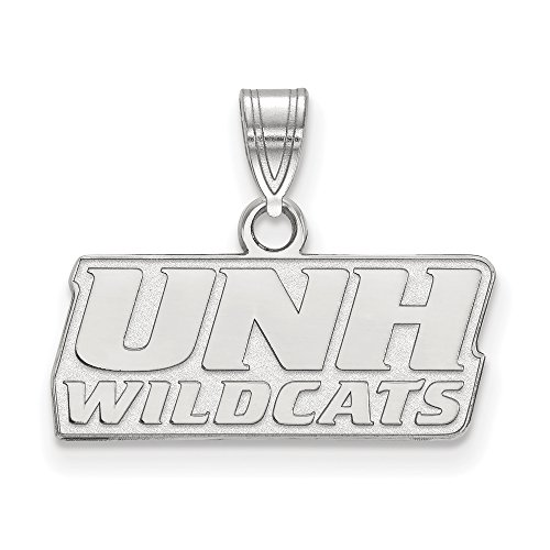 NCAA 10k White Gold U. of New Hampshire Small Pendant by Logo Art