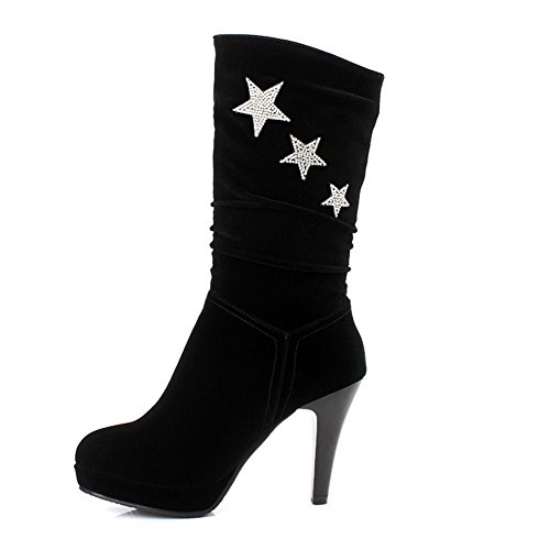 Bootie Calf five Black DecoStain Mid star Women's Yw4nwqXa