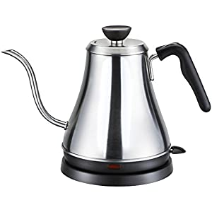 Willow & Everett Electric Gooseneck Kettle for Pour Over Coffee and Tea - 1L Electric Teapot Drip Kettle - Stainless Steel Coffee Teapots Kettles and Electric Tea Pot