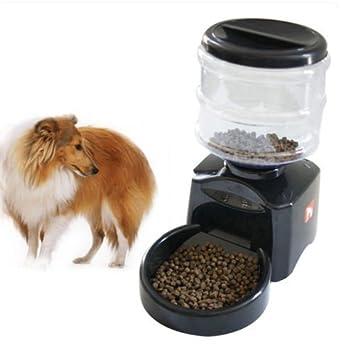 Mvpower Dispensador de pienso automático para gato o perro, 5,5L, programable: Amazon.es: Productos para mascotas