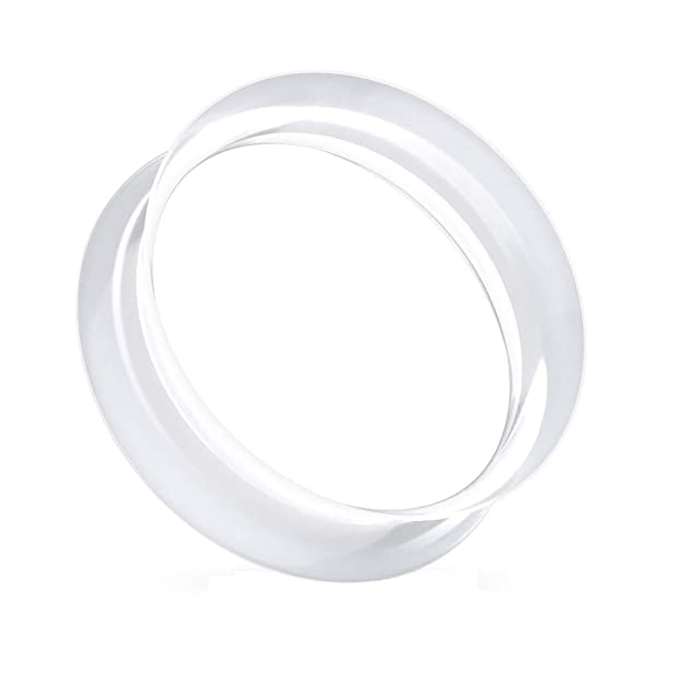 beyoutifulthings Ohr-Tunnel Ultrasoft Skin Silikon Ohr-Piercing Ohr-Schmuck Plug Double Flare Sattel-Verschluss viele Farben
