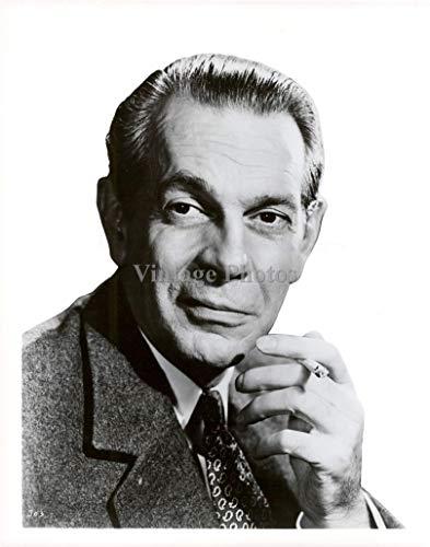 Vintage Photos 1955 Photo Actor Raymond Massey Canadian American Academy Award Nominee 8X10