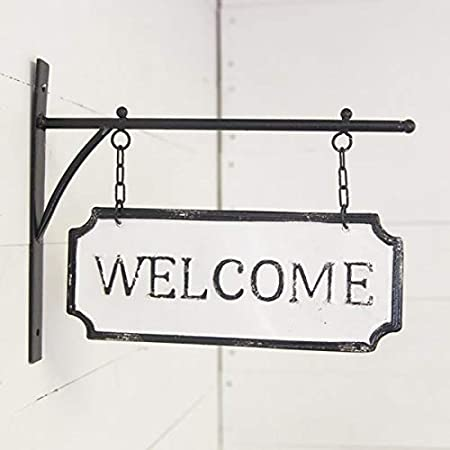 AT Vintage Metal Hanging Sign Wall Hanger Decor Laundry