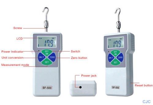 cjc Pressure Tester Meter Digital Push Pull Force Gauge High Precision 0.1N/0.01N/0.001N Digital Dynamometer Pressure Tester (0.001N/5N) by cjc (Image #2)