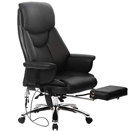 (BestMassage Executive Office Massage Chair Vibrating Ergonomic Computer Desk Chair)