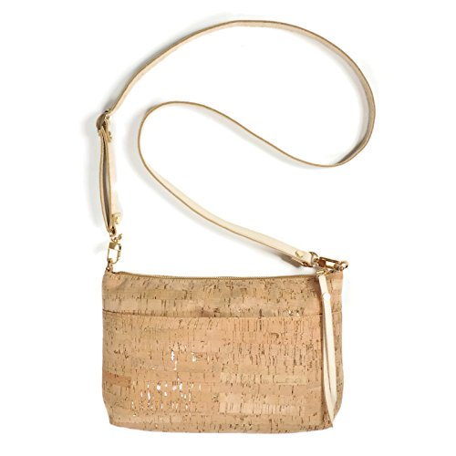 Cork Dash Gold Crossbody Purse with Detachable Strap by Spicer Bags by SPICER BAGS