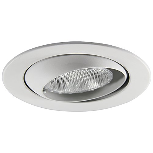 Eco Lighting NY HV4004WH/WH 4-Inch Line Voltage Trim Recessed Light fit Halo/Juno, Adjustable Eyeball, All White