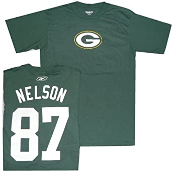 d4ac32a52 Amazon.com   Green Bay Packers Jordy Nelson Reebok Name and Number T Shirt  (XL)   Sports Fan T Shirts   Clothing