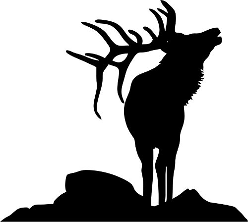 Elk on Rock Stencil Made from White 4 ply Mat Board