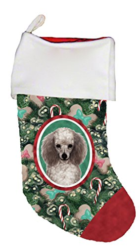 Best of Breed Poodle Silver Dog Breed Christmas Stocking