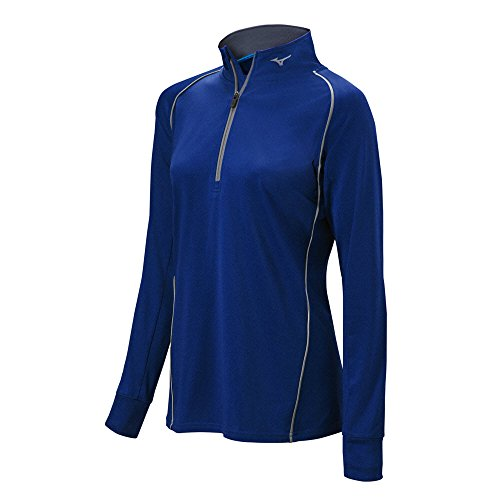 Mizuno Girls Comp Half Zip Batting Jacket, Navy, Large (Jackets Mizuno Batting)