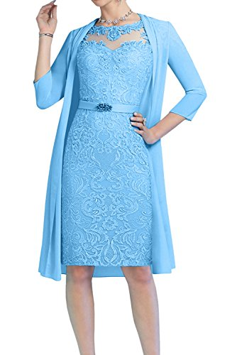 Topkleider - Vestido - Trapecio o Corte en A - para Mujer Azul 42