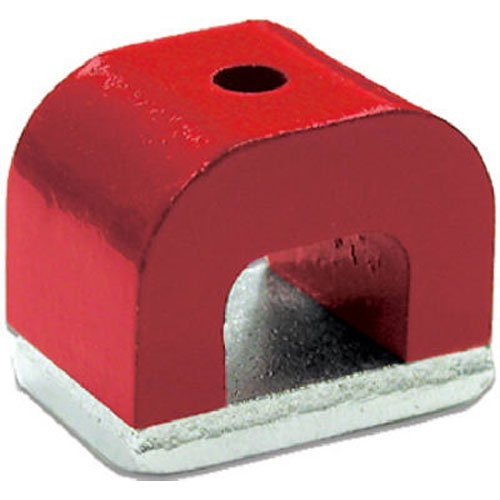 Red Cast Alnico 5 Bridge Magnet With Keeper, 1.18