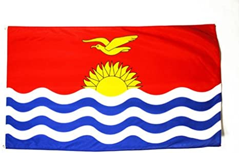 AZ FLAG Bandera de Kiribati 90x60cm - Bandera KIRIBATIANA 60 x 90 cm: Amazon.es: Jardín