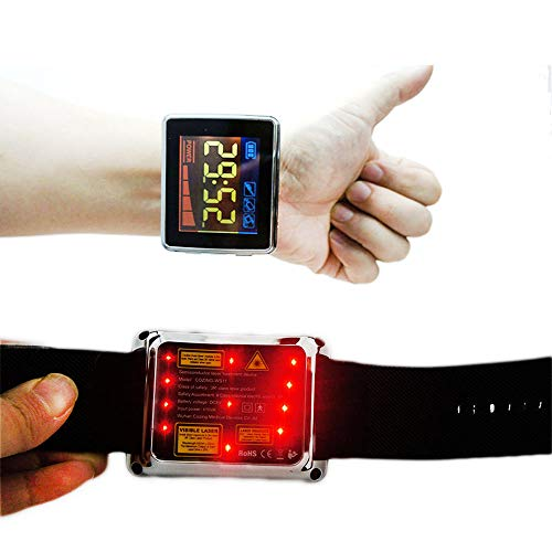 COZING 650nm Low Level Laser Therapy Wrist Watch for High Blood Pressure Home Remedy from COZING