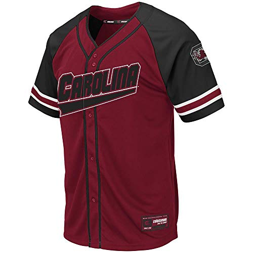 (Colosseum Mens South Carolina Gamecocks Wallis Baseball Jersey - S)