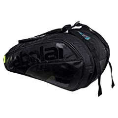 Feel unstoppable like Batman when you step out on court with the Babolat Pure 6 Pack Tennis Bag. This premium bag is made with high-quality fabrics and innovative technologies to fit any competitive players` needs. There are two main large co...