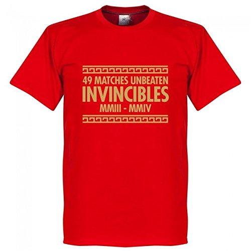 RE-TAKE(リテイク) アーセナル The Invincibles Tシャツ(レッド) (インポートXL)
