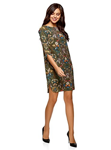 oodji Femme Robe Coupe Imprime Collection Vert Droite 6859f 7Pwqr7