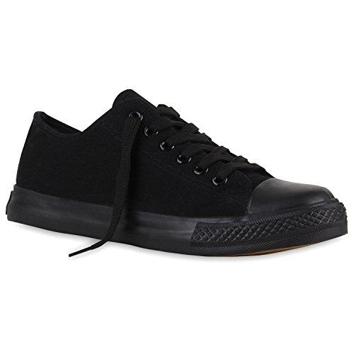 Stiefelparadies Schwarz Übergrößen Sneaker Schwarz Arriate Flandell Unisex Low Damen Herren aqaw7r