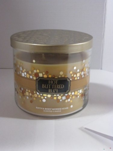 Bath and Body Works Home Scented Candle 2013-14 Hot Buttered Rum 14.5 Oz