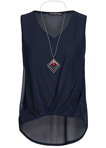 violet Fashion - Camiseta sin mangas - para mujer azul marino