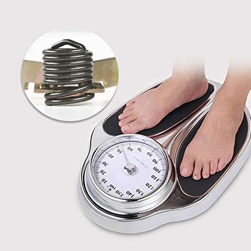 LIUU Bathroom Scale Health O Meter Digital Scale Mechanical Scales for Body Weight Sturdy Structure Precision Products Round Corner Safe Design