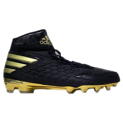 adidas Men's SM Freak X Carbon High Football Cleats (17, Core Black/Gold Metallic/Bright Royal)
