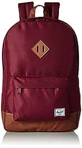 Herschel Heritage Backpack-Windsor Wine/Tan Synthetic Leather