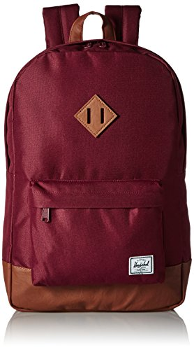Herschel Supply Co. Heritage Backpack, Windsor Wine/Tan Synthetic Leather, One Size