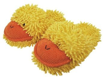 Yellow Duck Slippers (Aroma Home Fuzzy Friends Yellow Duck Slippers)