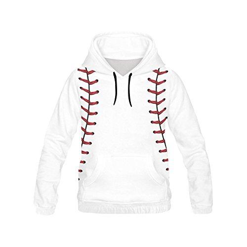 InterestPrint baseball All Over Print Hoodie Sweatshirt for Women