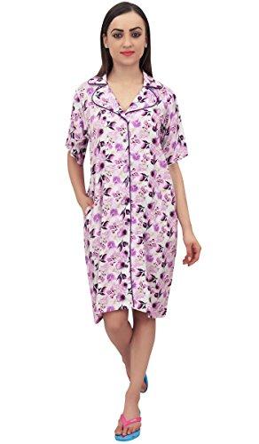Corte Maniche Nightwear Bimba Rosa Rayon A Sleepwear Print Floral Donna Chiaro HqYRq