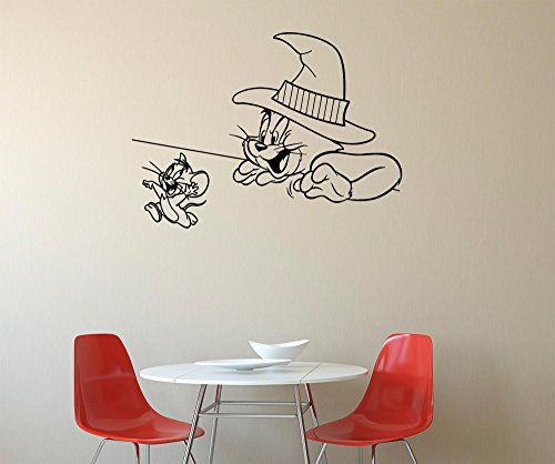 Tom and Jerry Wall Decals Decor Vinyl Stickers GMO5655