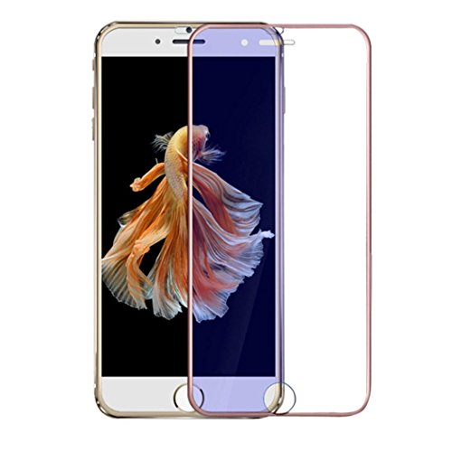 For iPhone 7 Plus, Oksale Full Coverage 3D Screen Protector, Ultra Slim, 9H Hardness, Plating Tempered Glass Protective Film (Rose Gold)