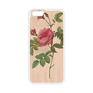 Generic FLOWER James TPU Cell Phone Cover Case for iPhone 6,6s 4.7 Inch AS1W8249169-Send tempered glass screen protector