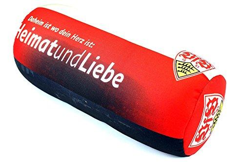 Set: VfB Stuttgart Nackenrolle und Kofferband Nackenkissen Dekokissen Autokissen Relaxkissen Kissen gepäckband