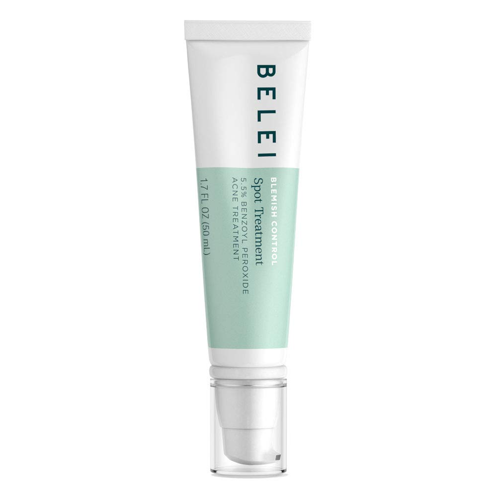 Belei Blemish Control Spot Treatment, 5.5% Benzoyl Peroxide Acne Treatment, Dermatologist Tested, 1.7 Ounces (50 mL) by Belei