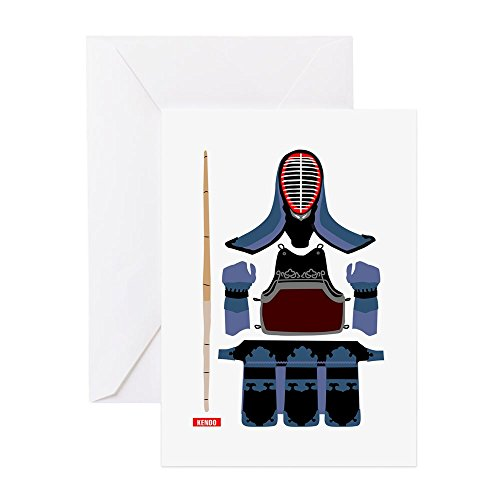 CafePress - Kendo Protector - Greeting Card, Note Card, Birthday Card, Blank Inside Glossy - Japanese Card Birthday