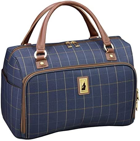 London Fog Kensington II 17 Cabin Bag, Navy Window Pane
