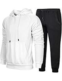1a9e432a30f Men s Hooded Tracksuit Pullover Casual Jogging Gym Sweat Suits
