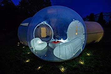Two Room Inflatable Bubble Tent Family Backyard C&ing Tent & Amazon.com : Two Room Inflatable Bubble Tent Family Backyard ...