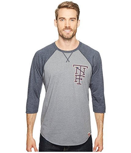 The North Face Men's 3/4 Americana Baseball Tee TNF Medium Grey Heather/Urban Navy Heather Small - The North Face 3/4 Sleeve T-shirt