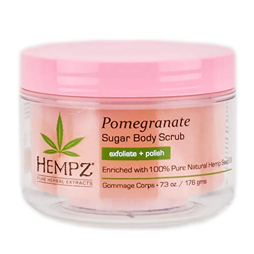 - Hempz Herbal Sugar Body Scrub, Light Pink, Pomegranate, 7.3 Fluid Ounce