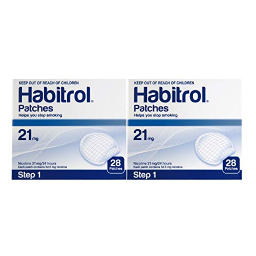 Novartis Habitrol 21mg Nicotine Patches Step 1. Stop Smoking. 2 Boxes of 28 Each (56 Patches). 21 MG…
